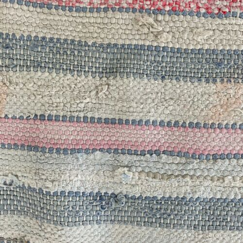 Rag Rug Area carpet 48 inches rag rug cottage look shabby chic style textile