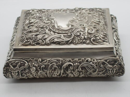 Sterling Silver William Comyns & Sons  c.1899 Jewellery Box
