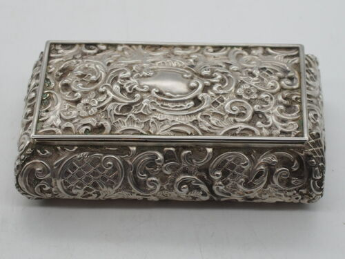Sterling Silver Henry Matthews Chester Jewellery Box Small c.1896