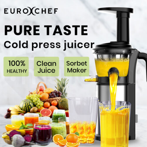 【EXTRA15%OFF】EUROCHEF Cold Press Slow Juicer Whole Fruit Chute Extractor <br/> 15% off* with code PAPR15. Ends 26th Apr.T&Cs apply