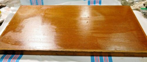 """Antique ~ Salvage  ~Oak Top to Stacking Card File Unknown brand 33"""" Wide  #2119"""