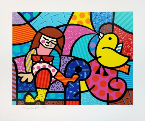 """ROMERO BRITTO """"ONLY YOU CAN HEAR"""" 1996 