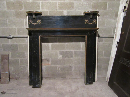 ~ ORNATE ANTIQUE CARVED CHERRY FIREPLACE MANTEL ~ 68 X 70 42 OPENING ~ SALVAGE