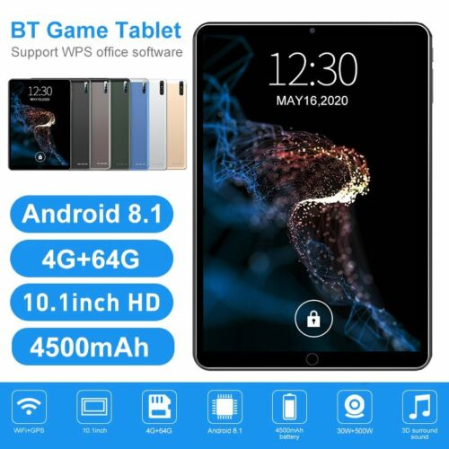 1080P 4+64GB Tablet 10.1 Android 10.0 Bluetooth WiFi GPS Tablet Netflix Camera