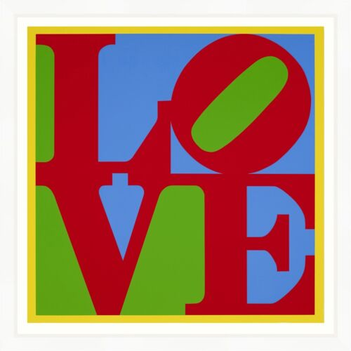 """ROBERT INDIANA """"HELIOTHERAPY LOVE"""" 1995 