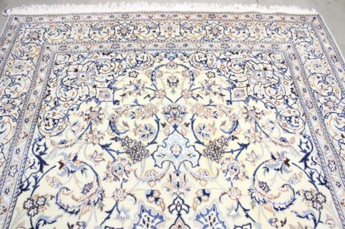 2000 Stunning Vintage Exquisite Hand Made Hand Knotted Rug 10.4X.8wool and silk