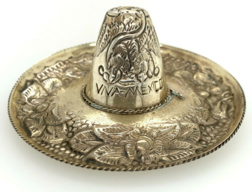 Sterling Silver 925 Ornament Sobrero Mexican Hat made in Mexico