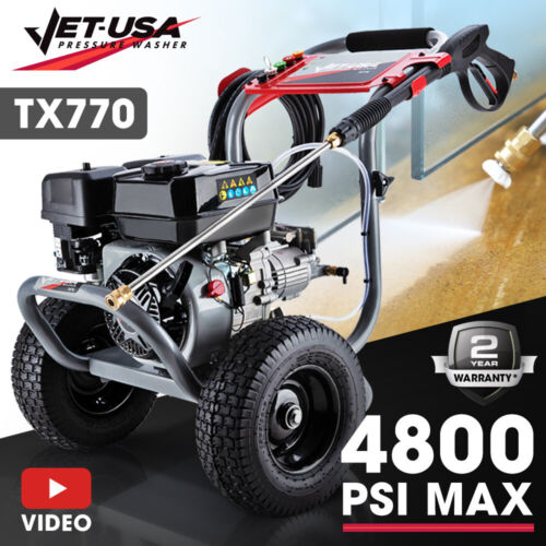 Jet-USA 4800PSI Pressure Cleaner Washer High Petrol-Powered Pump Water Power Jet <br/> Trade Quality: World Class Precision Design & Build