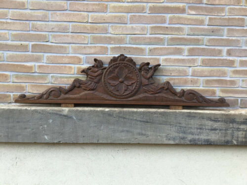 Antique French Carved Wood Architectural Pediment From Brittany