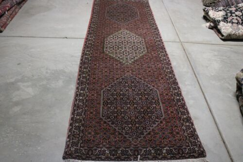C 1960 Stunning Antique Vintage Exquisite Hand Made Hand Knotted Rug 10x3