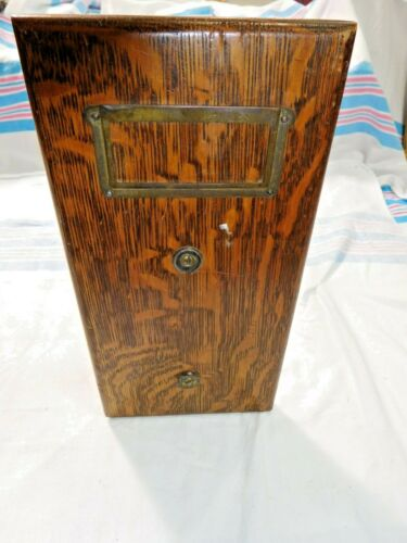 Antique ~ Salvage Quarter-Sawn Oak Document Drawer ~ possibly for Globe   #2304
