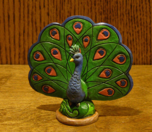 """Jim Shore Heartwood Creek Minis #4055063 PEACOCK, New From Retail Store 3.25"""""""