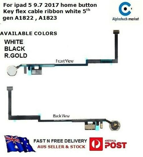 For iPad 5 Home Button Key Flex Cable Ribbon 5th Generation A1822 A1823
