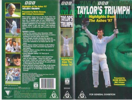 CRICKET HIGHLIGHTS FROM THE ASHES 97 VHS  PAL VIDEO A RARE FIND