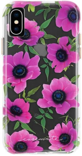 Apple iPhone XS Max Case Case-Mate Wallpaper Pink Poppy Protective Cover - New