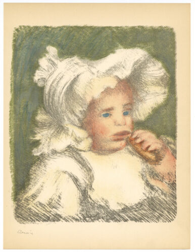 Renoir lithograph - Child with Biscuit