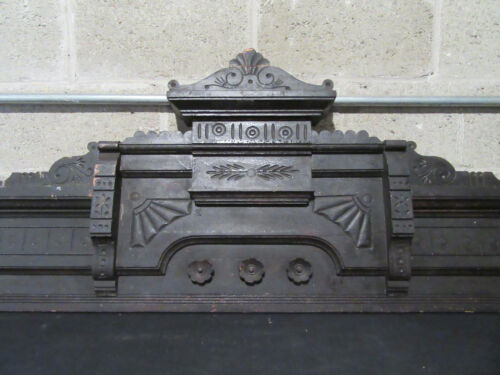 ~ ANTIQUE CARVED OAK PEDIMENT ~ 58 INCHES WIDE ~ ARCHITECTURAL SALVAGE ~