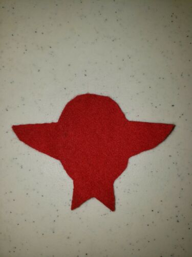 K1110 Indochina France Wool Backing for Paratrooper Wings Colonial Red L3C