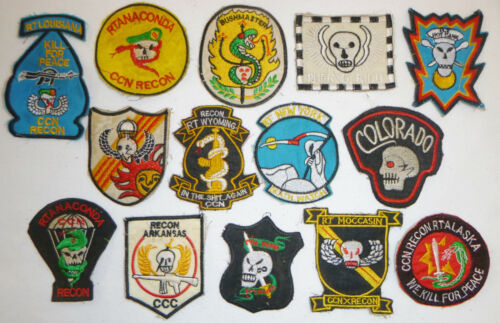 LOT x 14 Patch - BLACK OPS - Spike Recon Team - USSF - MACV - Vietnam War - X20Patches - 104015