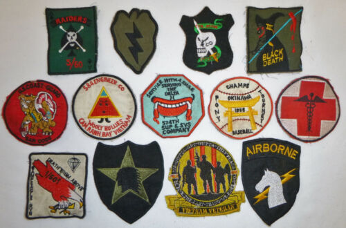 LOT x 13 Patch - US ARMY - AIRBORNE - TUNNEL RATS - RAIDERS - Vietnam War - X14Patches - 104015