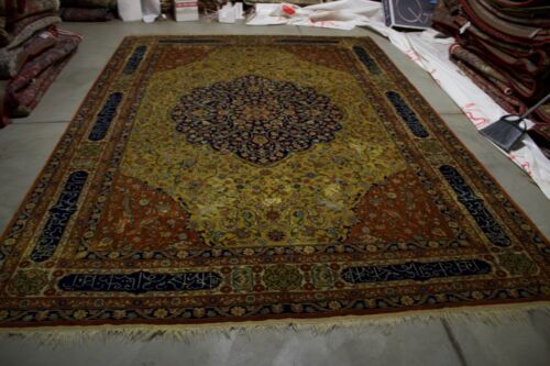 11.X8 HANDMADE ANTIQUE   RUG  MASTERPIECE ONE OF THE KIND %100 WOOL