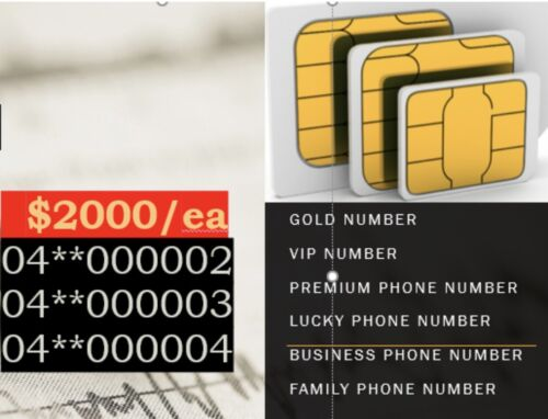 Gold mobile phone number. Platinum. VIP. Premium.New