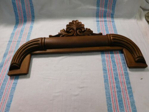 Antique ~ Salvage Ornate Salvage Pediment with Heavy Carving Mixed wood ~ #2079