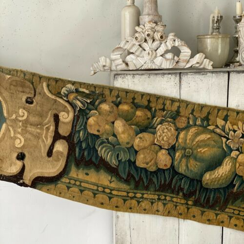 Aubusson tapestry wall hanging hand-woven 17th century weaving handwoven textile