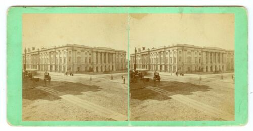 B5465~ T.W. Smille Washington DC Stereoview Very Early US Post Office