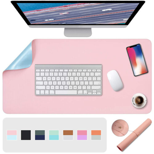 AU PU Leather Computer Desk Mat Double-sided Modern Mouse Pad Laptop Computer
