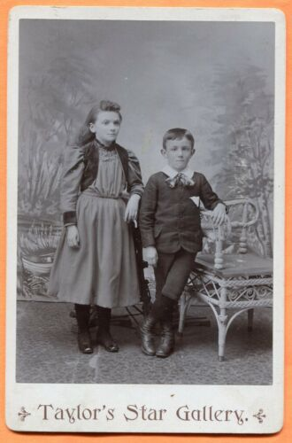 Republic, MI, Portrait of a Sister & Brother, by Taylor, circa 1890s