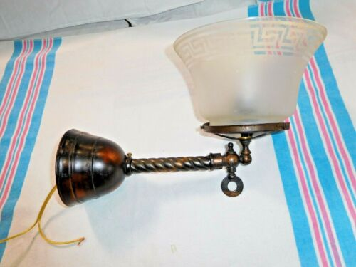Antique ~ Japanned Wall Sconce ~ Gas converted to Electric ~ Rewired       #2526