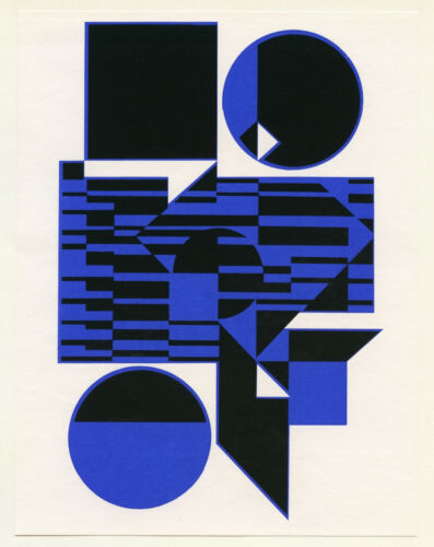 Victor Vasarely serigraph printed in 1964 - Hard Edge