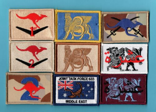 original Australian Army Unit patch collection of 9 different patches.   lot 34Modern, Current - 36066