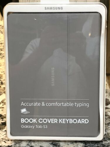 FREE SHIPPING Samsung Galaxy Tab S3 Book Cover Keyboard Case NEW IN BOX (GRAY)