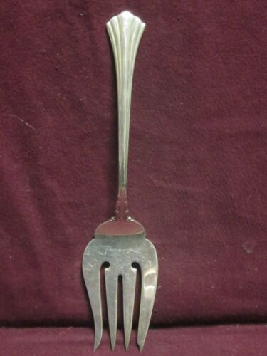"Reed & Barton Sterling EIGHTEENTH CENTURY COLD MEAT FORK 8 1/2"" 79g  NM"