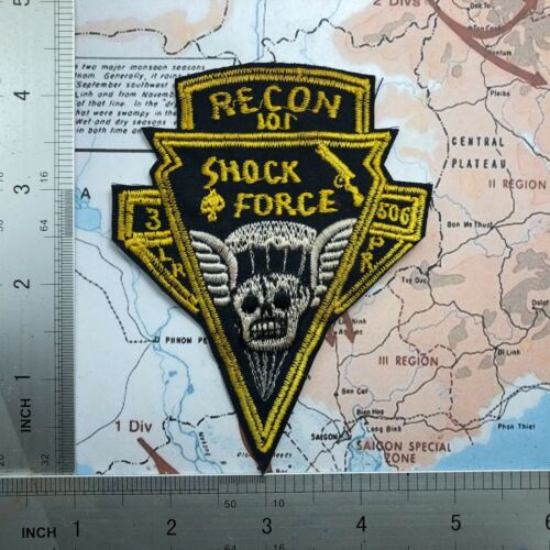 patch , 3 BN 506th INF Regt. Airborne Parachute Recon LRPP Shock Force Patch Marine Corps - 66531