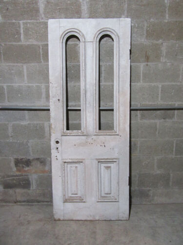 ~ ORNATE VICTORIAN DOOR DOUBLE TOMBSTONE ~ 32 X 81 ~ ARCHITECTURAL SALVAGE ~
