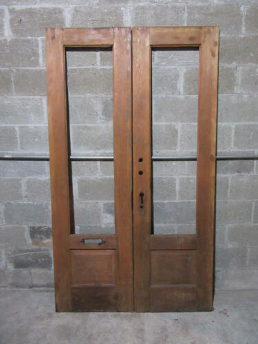 ~ ANTIQUE DOUBLE ENTRANCE FRENCH DOORS ~ 48 x 83 ~ ARCHITECTURAL SALVAGE ~