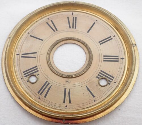ANTIQUE SETH THOMAS KITCHEN SHELF CLOCK DIAL PARTS REPAIR
