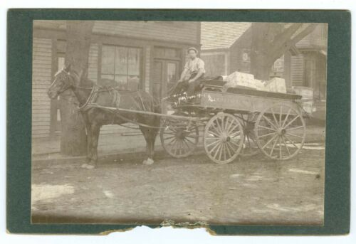 B7063~ Allen's Express Horse/Wagon Delivery Boston New Bedford MA Cabinet Card