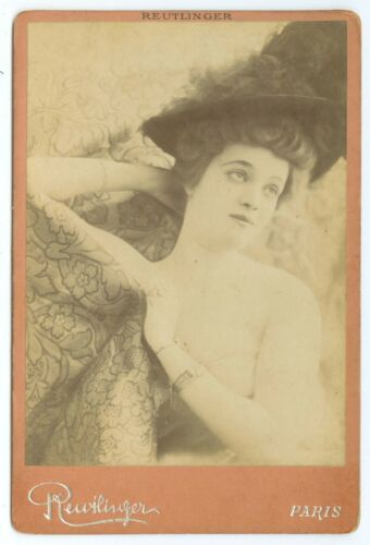 B7334~ Maley Berger – Theater Actress? by Reutlinger Paris France Cabinet Card