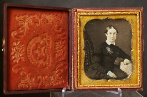 F33112~ Bradley's Gallery Philadelphia PA Mourning? Daguerreotype Arm Band?