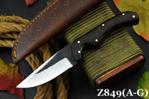 Custom Hammered Spring Steel 5160 Hunting Knife Handmade, No Damascus (Z849-A)