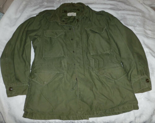 Vietnam Jacket Coat 107 Dated 1958 Treated Olive Army Southern WR Sateen SlideOriginal Period Items - 13982
