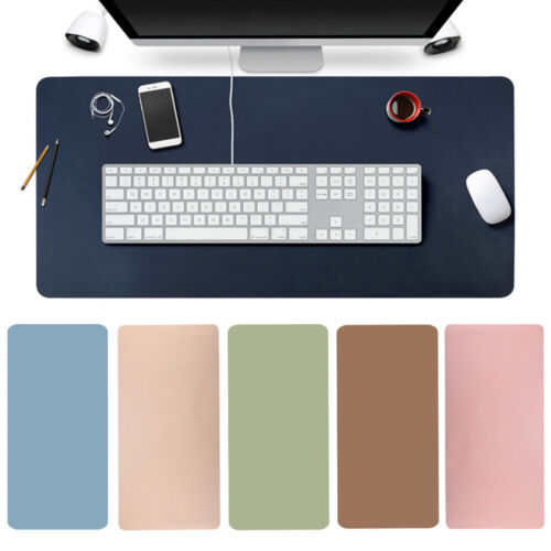 Large Leather Computer Desk Mat Keyboard Mouse Pad Laptop Cushion Home Office AU