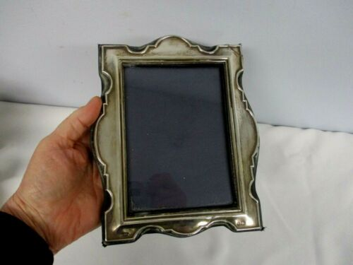 """VINTAGE KFL & SON ENGLISH STERLING SILVER STANDING PICTURE FRAME 3 3/4"""" X 5 1/4"""""""