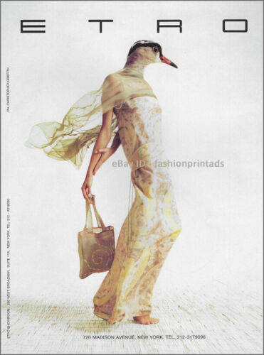 Vintage ETRO 1-Page Magazine PRINT AD Spring 1998 christopher griffith