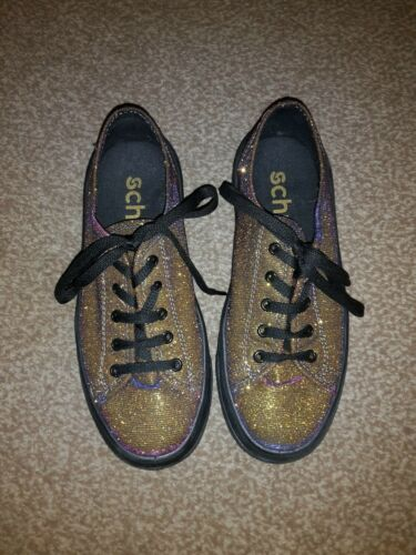 Girls Two Tone sparkly Thick Soled Sneeker style by Schuh Girls size 4 euro 37