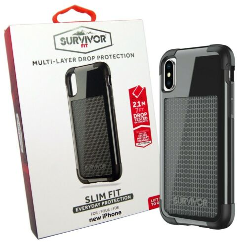 Griffin Survivor Case Cover Protection Fit for Apple iPhone X TA43858 - Black